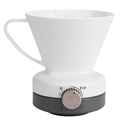 Fdit Pour Over Coffee Dripper con función de sincronización Filtro de café de goteo lento Cafetera blanca reutilizable...
