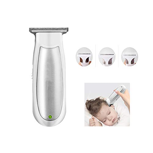 Low Noise Tondeuse Voor Baby Baby Kind, Professionele Elektrische Clippers Sterke Macht Scheren Power Generation Fader, Waterdicht, Opladen Via USB