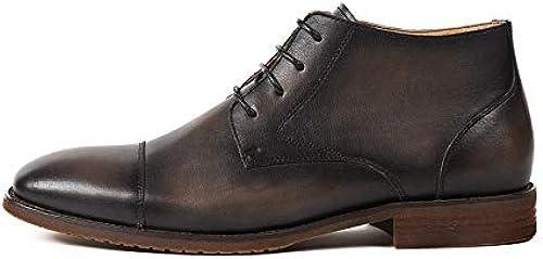 ZHRUI Stiefel Formales con Cordones para Hombre Stiefel con Suela Blanda, Duradera y Confortable (Farbe   schwarz, tamaño   EU 40)