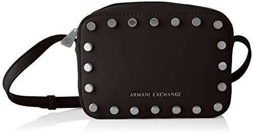Armani Exchange - Small Crossbody Bag, Bolsos bandolera Mujer, Negro (Black), 15x7x20 cm (B x H T)