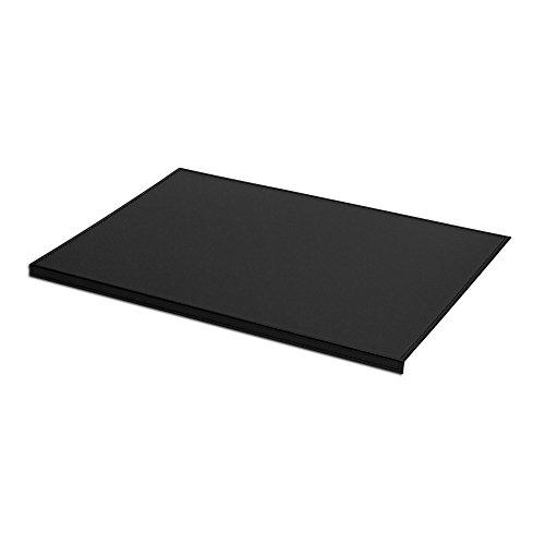 Eglooh - Calliope - Protector Mesa Escritorio en Cuero Negro cm 90x60 - Antideslizante, Estructura Interna en Acero con Perfil Frontal en Forma de L, Costuras Artesanal - Made in Italy