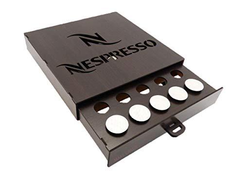 Porta Capsula café Nespresso Madeirado 25 capsula gaveta