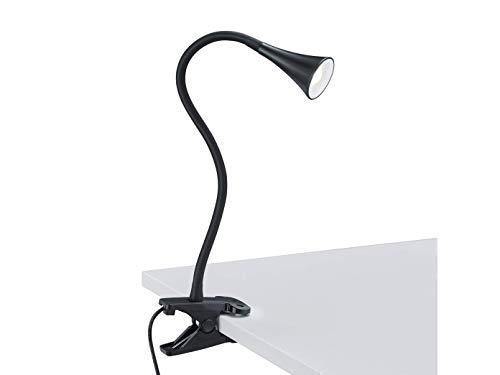 Lampada pinza nero con Led 3w integrato. 230v. Lunghezza 35 centimetri. Comprende il cavo con interruttore e trasformatore.