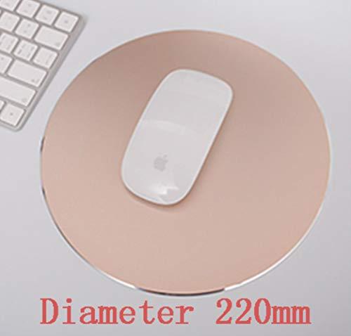 EMOHKCAB Double Side Office Mouse Pad17x20 / 18x22cm Aluminiumlegierung rutschfeste Gaming Mouse Pad Matte 24x30 / 27x32cm Genaue Steuerung Mousepad, Käufer Hinweis Farbe