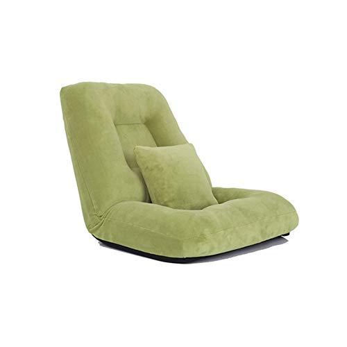 14 engranajes Silla de piso acolchada ajustable con soporte trasero, cómoda silla plegable con respaldo para el hogar y la oficina, almohada para el piso para la meditación o como silla de juego,B