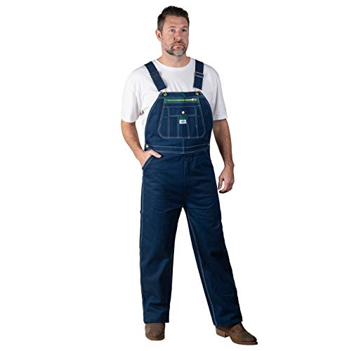 Big Men's 100% Cotton Rigid Denim Bib Overall