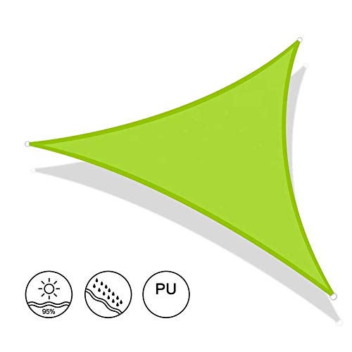FGA Toldo de Tela Sombrilla Verde Toldos de Vela para Exterior Impermeable Tela Oxford Sombra Vela Derecha Bloque UV Patio Jardín Patio Cubierta Superior