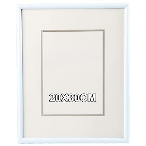 Marco de Fotos 20 x 30 cm Blanco Estilo Sencillo PVC Panel...