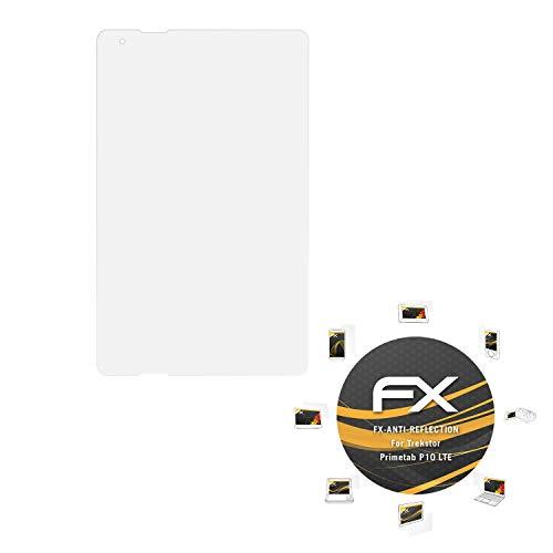 atFolix Panzerfolie kompatibel mit Trekstor Primetab P10 LTE Schutzfolie, entspiegelnde & stoßdämpfende FX Folie (2X)