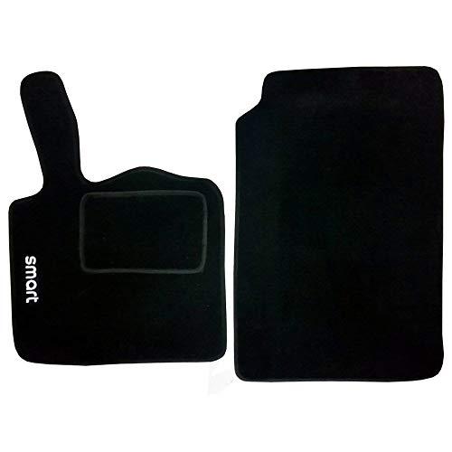Alfombrillas de Coche de moqueta con Velcro compatibles con Smart 2a Serie W451 (2007 a 2015)