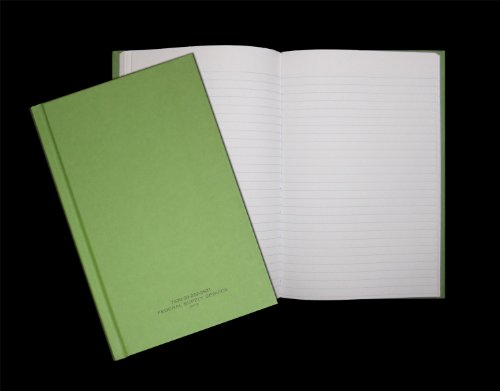 Green Military Log Book, Record Book, Memorandum Book, 5-1/2 X 8 Green LogBook NSN 7530-00-222-3521