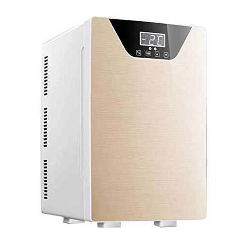 yunyun Mini Refrigerador para Coche,20L Dormitorio Pequeño Enfriamiento De Tres Núcleos Nevera Portátil Eléctrica De Viaje,enfriamiento Y Calefacción De Doble Propósito, con Pantalla Inteligente