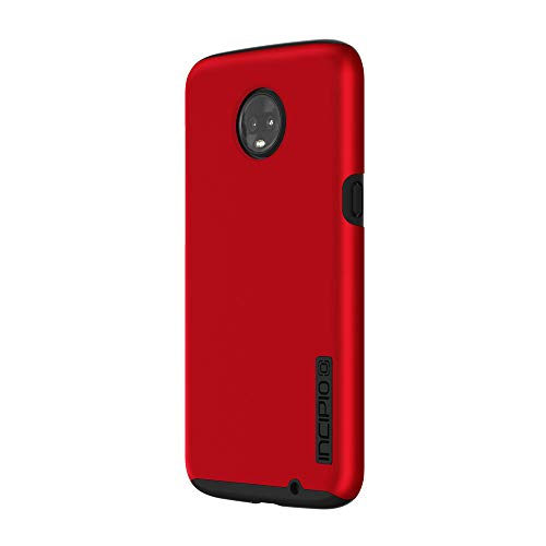 Incipio DualPro Hülle für Motorola Moto Z3 Play - von Motorola zertifizierte Schutzhülle (rot/schwarz) [Extrem robust I Stoßabsorbierend I Soft-Touch Beschichtung I Hybrid] - MT-454-RBK