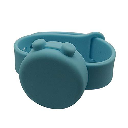 Blingko Desinfektionsarmband Armband aus Silikon 15 ml Flüssigkeiten und ist Leicht Nachzufüllen Wristband Handspender Desinfektionsmittel Armband Spender fur Sport/Freizeitaktivitäten
