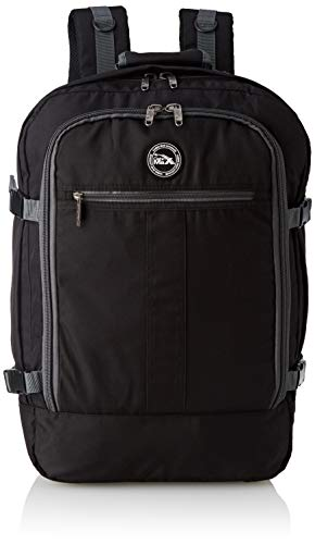 Cabin Max Backpack Flight Approved Carry On Bag Massive 44 litre Travel Hand Luggage 55x40x20 cm (Black/Grey)