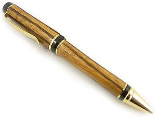 Hand Turned Zebra-Wood Cigar-Style Ball Point Pen