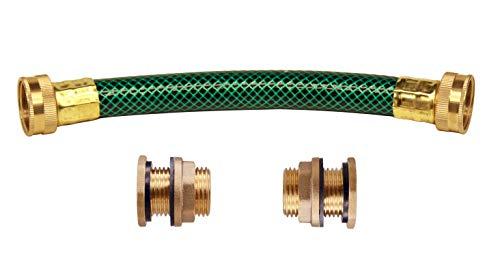 RAINPAL Rain Barrel Linking Kit (Upgraded Thicker Bulkhead Fittings and One 8 inch 3/4