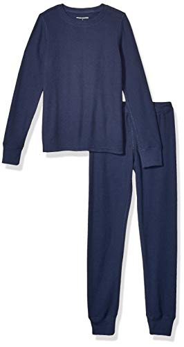 Amazon Essentials Thermal Long Underwear Set, Marino, Medium