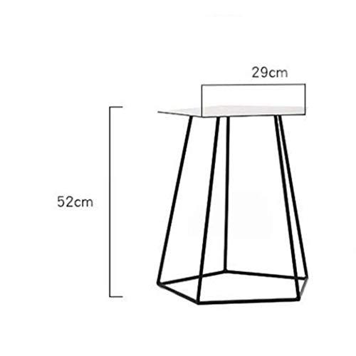 Mejoras para el hogar Diseño de muebles Mesa auxiliar Mesas de mesa SOFE Mesa auxiliar Mesa auxiliar de metal Mesa con estilo Bandejas Construcción de acero resistente con recubrimiento en polvo