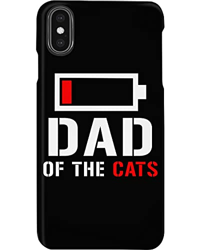 Dad of The Cats Best Gift for Cat Lovers Low Battery Happy Father's Day Phone Case Cover for iPhone