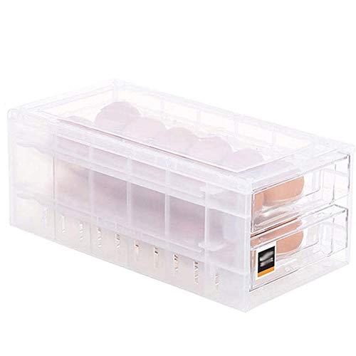 LGW Caja de Almacenamiento de cajones de Cubiertos Huevo Caja de Almacenamiento - 1PC 24 la Red de Gran Capacidad Frigorífico Huevos contenedor de Almacenamiento Fácil de Usar y Limpio