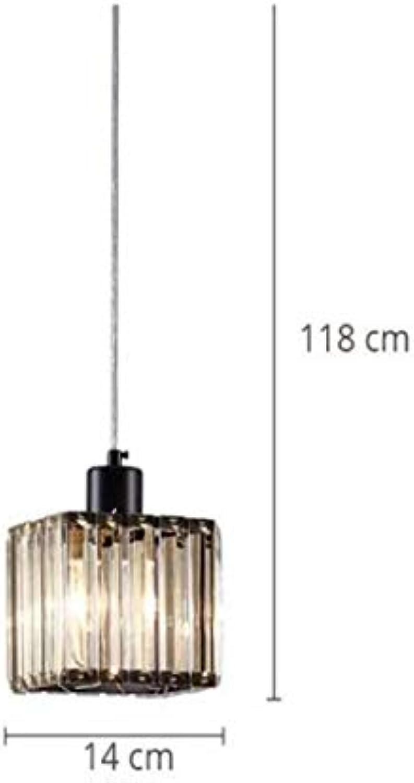Dx Modern Led Pendant Lights Crystal Lighting Fixture Dining Room Living Room Iron Lamp Creative Cube Luminaire schwarz Luster