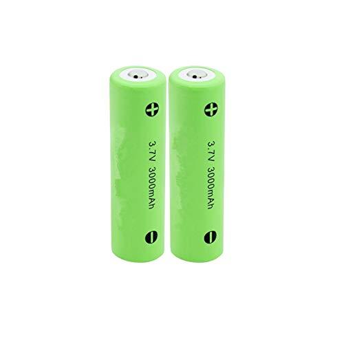 yfkjh 3.7V 3000mAh 18650 Li-ion batería de litio, baterías recargables Baterías de energía descarga para la luz LED 2PCS