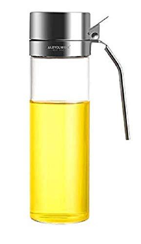 オイルボトル 調味料入れ 醤油ボトル 酢ボトル 油さし オイル差し ガラス素材 防塵 450ml