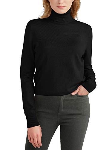 Woolen Bloom Maglione Donna Collo Alto Sweatshirt Maglia Polo Collo Manica Lunga Maglia Pullover Casual Maglieria Felpa Autunno Invernali Primavera