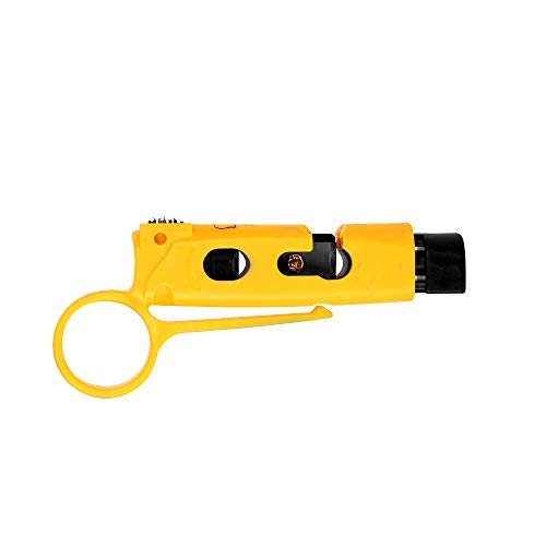 Universal RG6/59 Coax Cable Stripper with Braid...