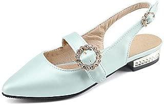RainbowElk Women's Sandals Spring Summer Mary Jane Gladiator Light Soles Leatherette Outdoor Dress Casual Flat Heel Rhinestone Buckle