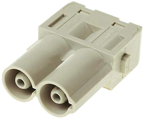 09140022642 - Heavy Duty Connector, Finger Safe, Han-Modular Series, Insert, 2 Contacts, Plug, Screw Pin
