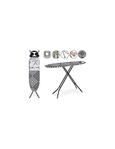 TU TENDENCIA ÚNICA Tabla de Planchar 30x97 cm. Reposaplanchas con Protector. Plegable. Tacos Antideslizantes (Mosaico)