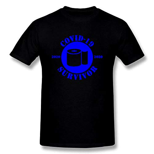 Fashion Covid-19 Survivor Coronavirus 2041 Short Sleeve T-Shirt Black/Blue