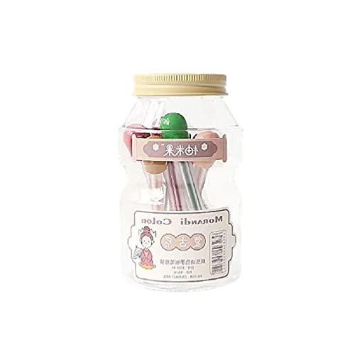 9 piezas nórdico de color morandi de 0,5 mm de gel de bolígrafo de color para dibujar pintura papelería Gel Pen Recambios 0,5 mm