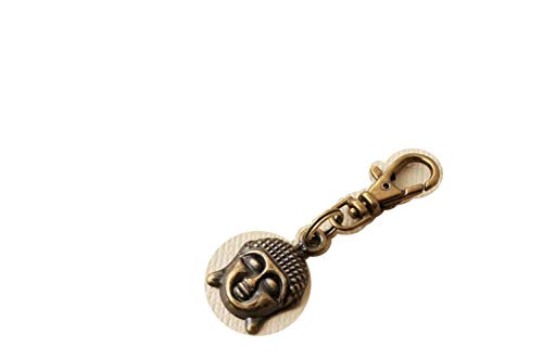Buddha Zipper Charm, Antique Bronze Buddha Zip Pull Charm, Small Zip Charm for Bag Purse Jacket Back Pack Planner Keys