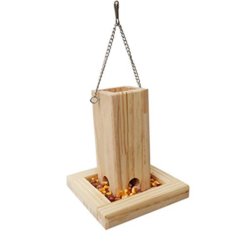 huiingwen Automatic Parrot Foraging Device Wooden Bird Feeder Food Box Hanging Cage Feeding Cup Bird Cage Accessories