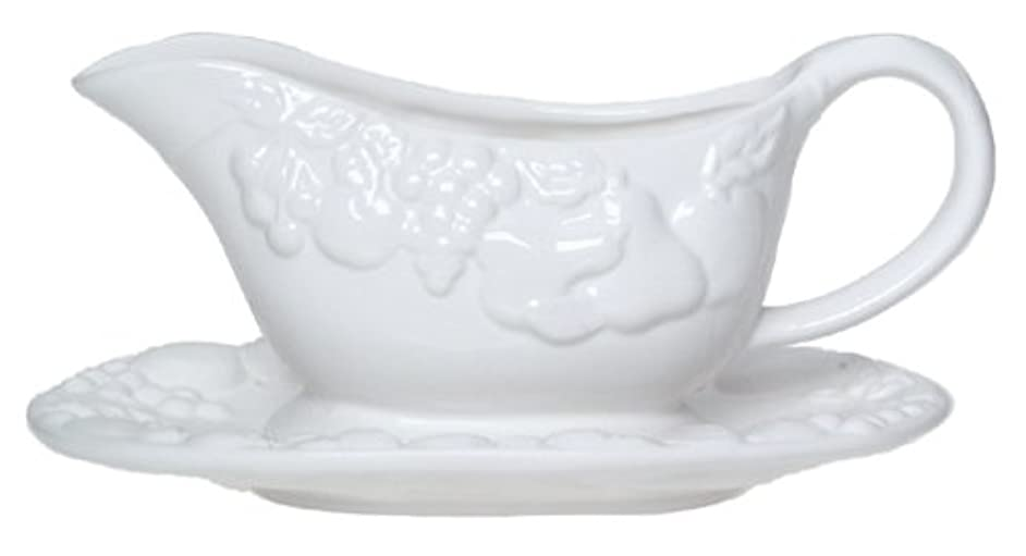 Gibson Overseas Fruitful Gravy Boat with Stand