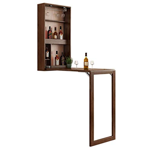Desk Xinjin An der Wand befestigter Tisch, Klappbar aus massivem Holz, Nordic Minimalist-Wandtrennwand, Weinschrank, Kleiner Wandbehangstisch für den Haushalt, Schreibtisch zum Aufhängen an der Wand
