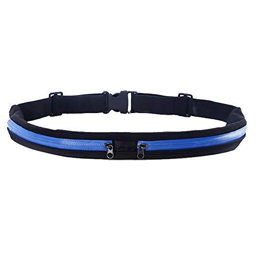 Paquete de la Cintura de Fanny Pack Paquete de la cintura de fitness cintura bolsa de Senderismo ajustable Cinturón for el teléfono hasta 6 pulgadas de la banda en funcionamiento Paquete de Cadera par