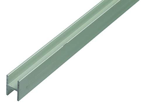 GAH-Alberts 485634 H-Profil | speziell für 19 mm starke Spanplatten | Aluminium, silberfarbig eloxiert | 1000 x 22 x 30 mm