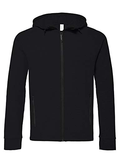 CARE OF by PUMA Sweat-Shirt Zippé à Capuche Manches Longues Homme, Noir (Black), S, Label: S