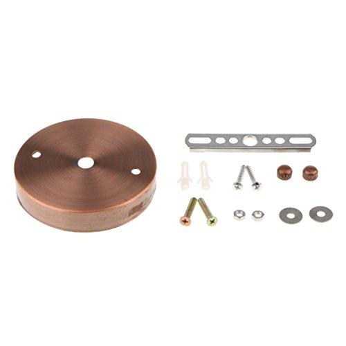 Deckenplatte Gerade Kante Basis Montage Zubehör Halterung für Hängeleuchte Deckenlampe - Rote Bronze