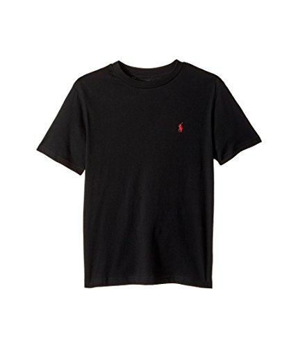 Polo Ralph Lauren Kinder Jungen Baumwolljersey Rundhalsausschnitt T-Shirt (Little Kids/Big Kids) -  Schwarz -  Small