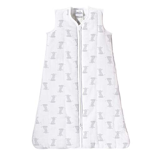 aden by aden + anais gigoteuse cozy plus, mousseline 100% coton et molletonnage 100% polyester, 2.5 TOG, safari babes, small