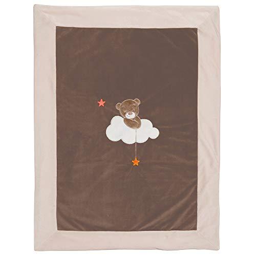 Nattou Manta para bebé del Oso Basile, 75 x 100 cm, Mia y Basile, Marrón/Beige