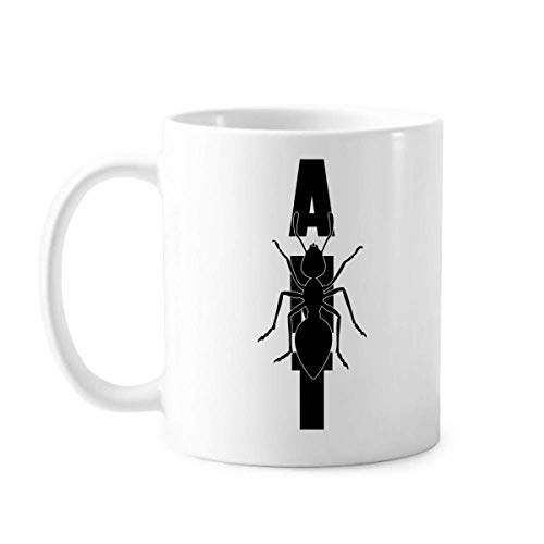 Tasse mit Insekten, Tiere, Ameisen, Keramik, Kaffee, Porzellan, Geschirr