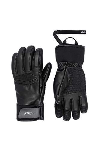 KJUS Women Performance Gloves Schwarz, Damen Fingerhandschuh, Größe 7 - Farbe Black