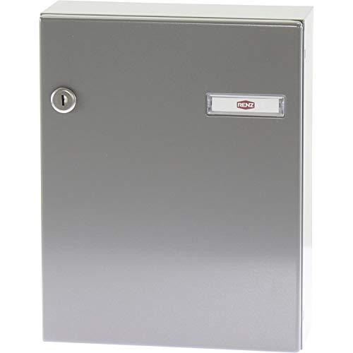 RENZ Tür-Durchwurfbriefkasten SERIE 17, 260 x 330 x 100 mm, Stahl RAL 9007