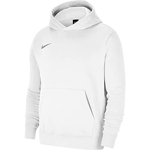 NIKE CW6896 Y NK FLC PARK20 PO Hoodie Sweatshirt Boys White/Wolf Grey L